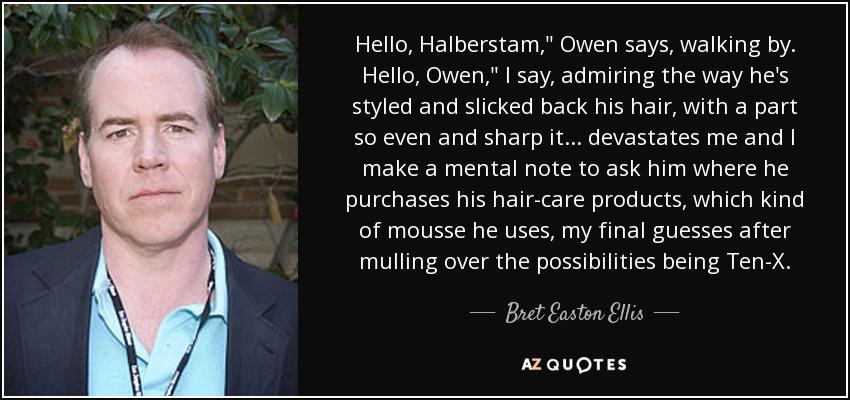 Hello, Halberstam,
