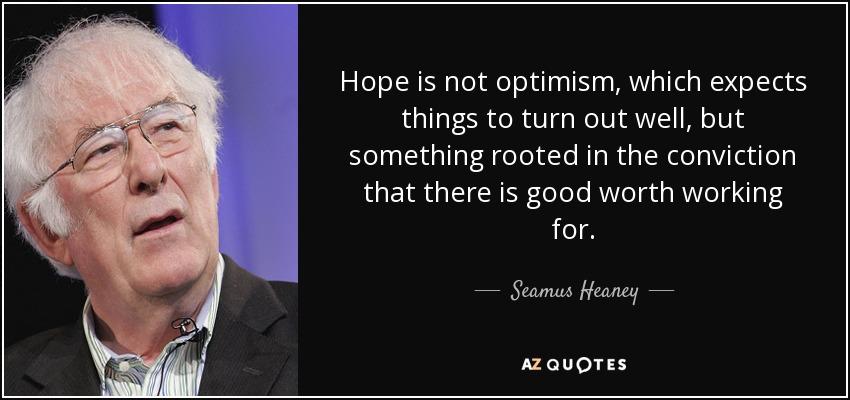 hope and optimism