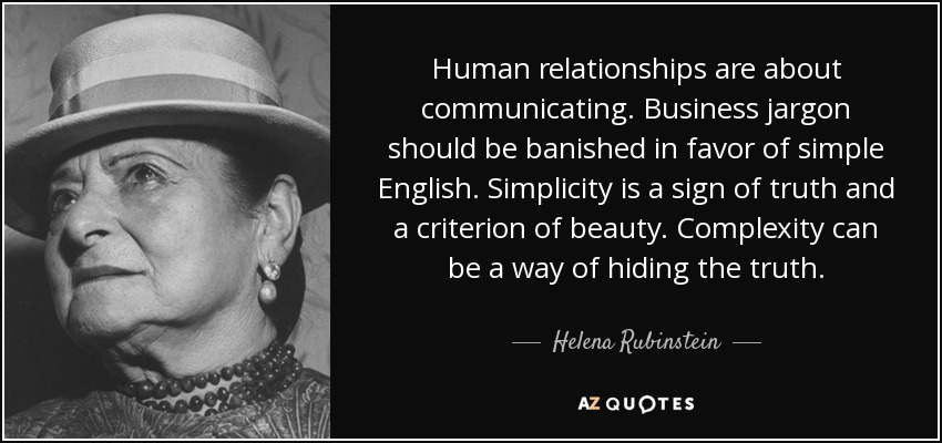 Helena Rubinstein Quote Human Relationships Are About Communicating