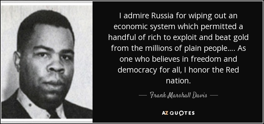 Quotes By Frank Marshall Davis A Z Quotes