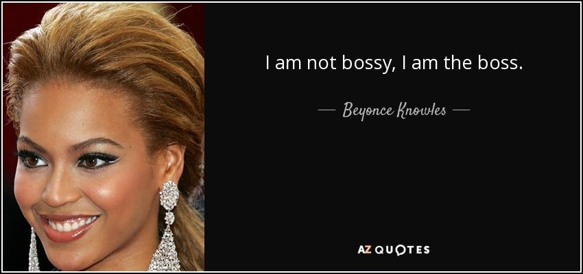 i am not bossy