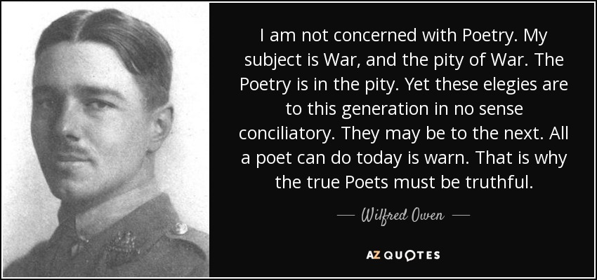 Top 25 Quotes By Wilfred Owen Of 68 A Z Quotes