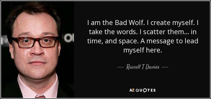 Image result for i scatter bad wolf