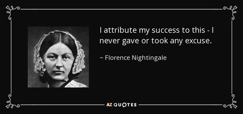 Florence Nightingale Quote I Attribute My Success To This I Never
