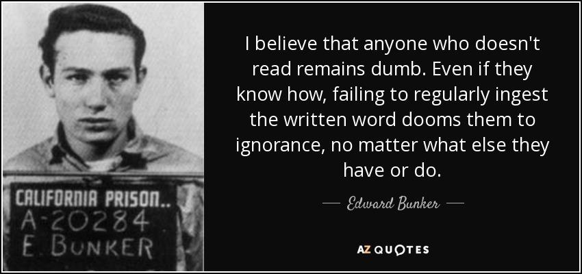 edward bunker citazioni