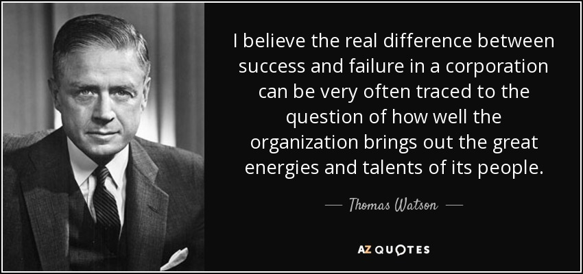 TOP 19 QUOTES BY THOMAS WATSON, JR. | A Z Quotes