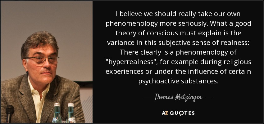 I believe we should really take our own phenomenology more seriously. What a good theory of conscious must explain is the variance in this subjective sense of realness: There clearly is a phenomenology of