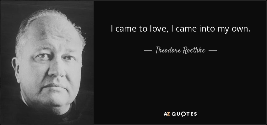 Theodore Roethke love