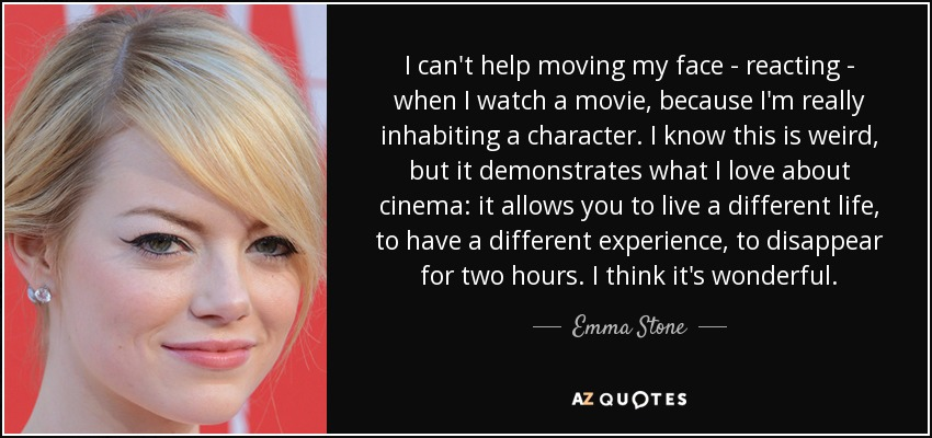 Quotes From The Movie The Help Fascinating Emma Stone Quote I Can't Help Moving My Face Reacting When