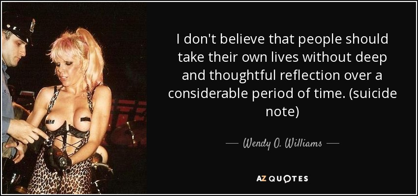 Charming Life Pattern 10 Things I Hate About You: Wendy O. Williams Quotes. QuotesGram