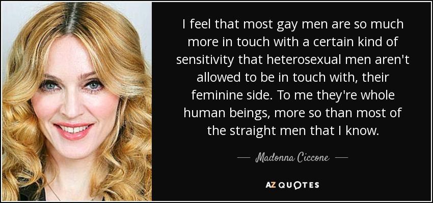 Feminine straight men