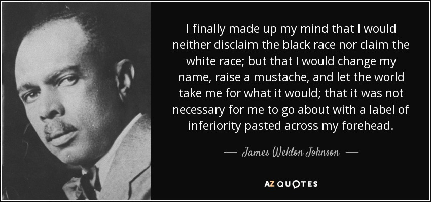 James Weldon Johnson Quote I Finally Made Up My Mind That border=
