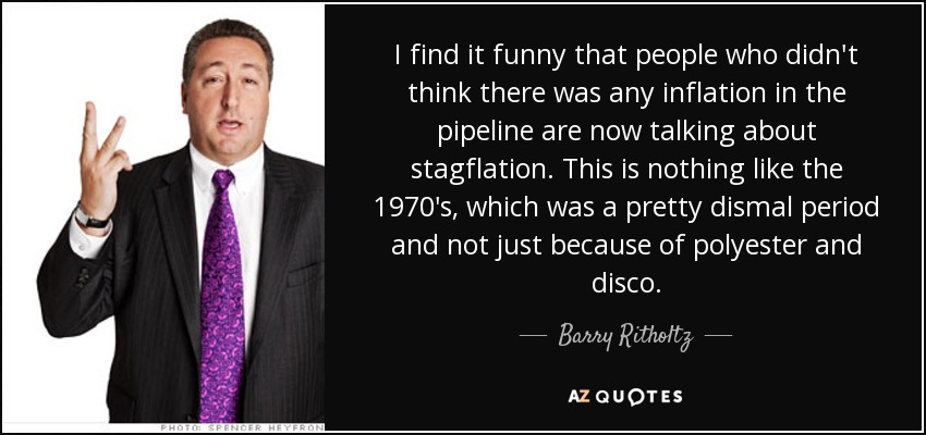 Barry Ritholtz quote: I find it funny that people who didn't think ...