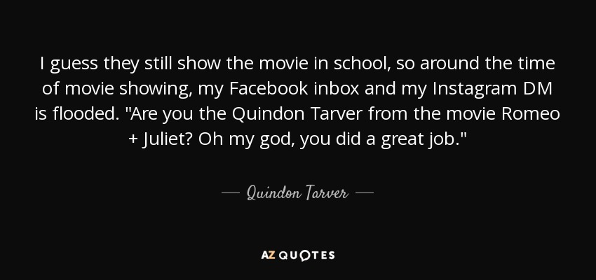 I guess they still show the movie in school, so around the time of movie showing, my Facebook inbox and my Instagram DM is flooded.