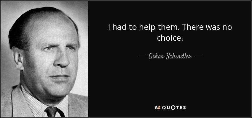Oskar Schindler Zitate