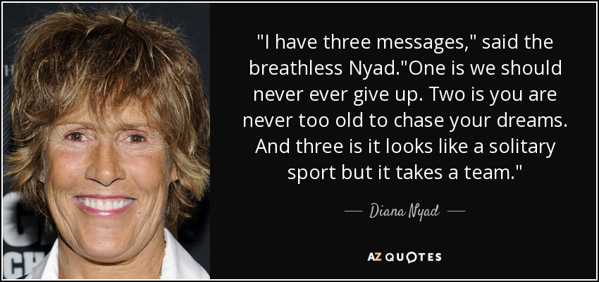 Diana Nyad quote: