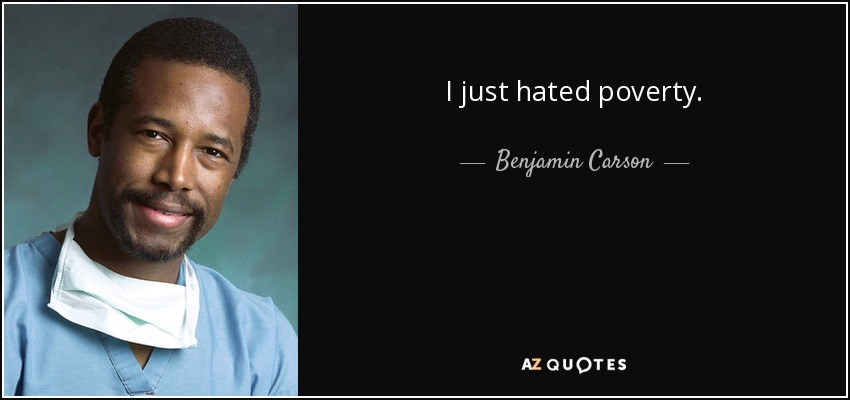 Image result for poverty ben carson