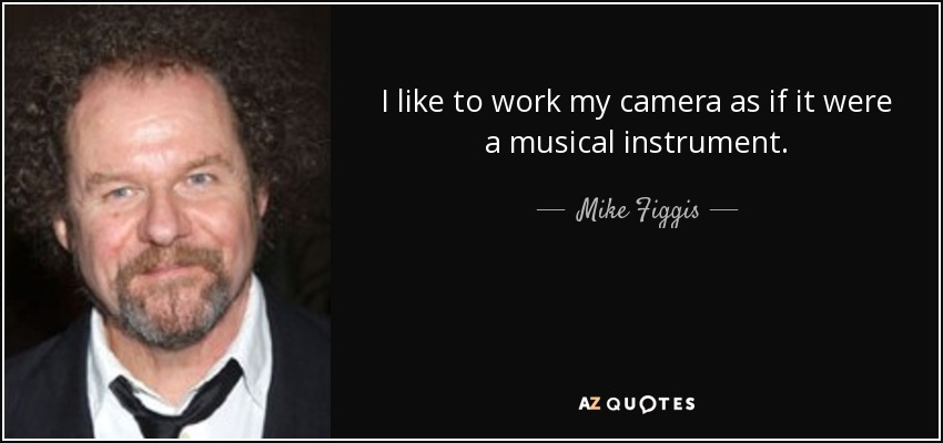 I like to work my camera as if it were a musical instrument. - Mike Figgis