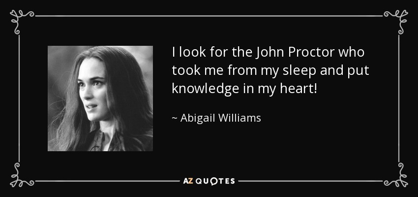 john proctor abigail williams