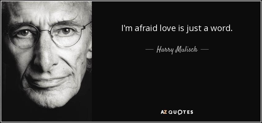 I'm afraid love is just a word. - Harry Mulisch