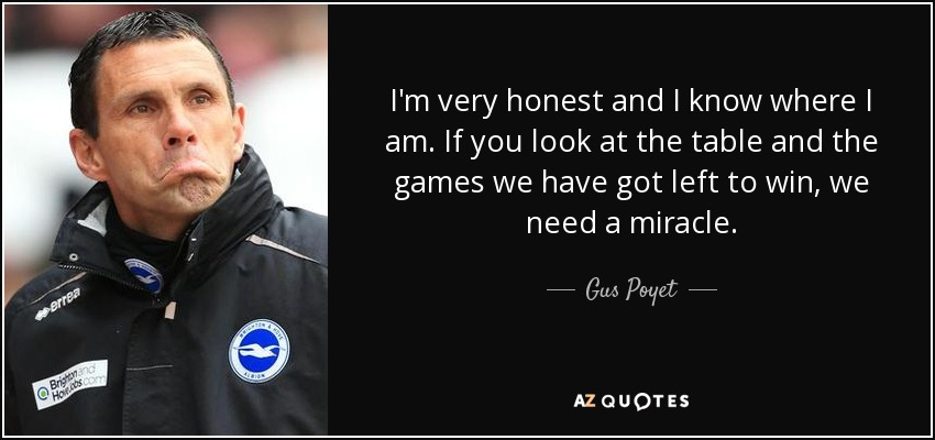 Gus Poyet quote  I m very honest and I know where I am. If... 4d2c390ee
