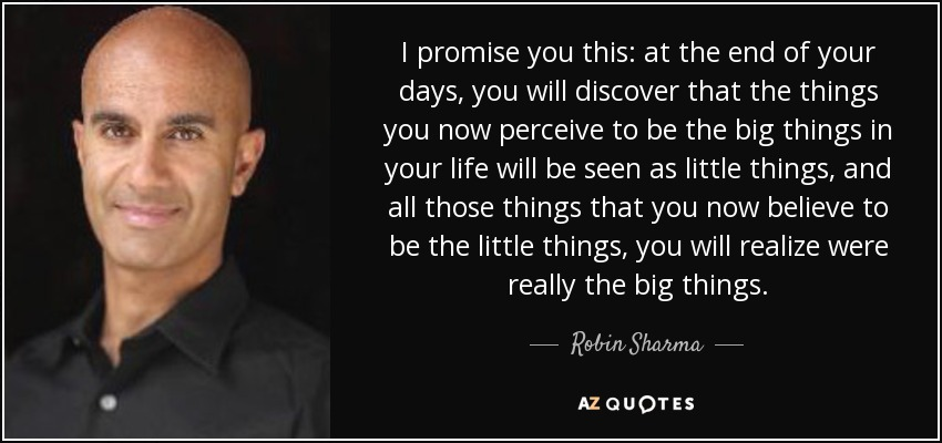 Robin Sharma Quote I Promise You This At The End Of Your Days
