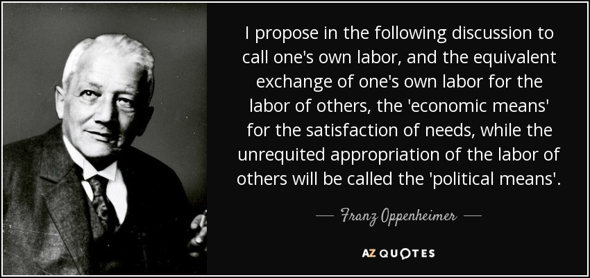 Oppenheimer Quote   Franz Oppenheimer Quote I Propose In The Following Discussion To