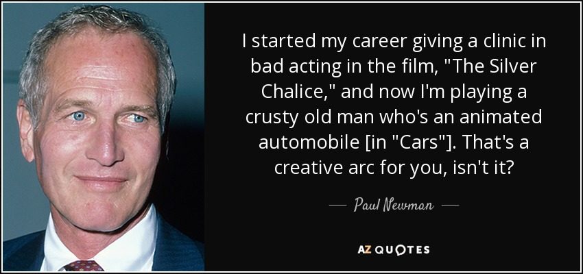 I started my career giving a clinic in bad acting in the film,