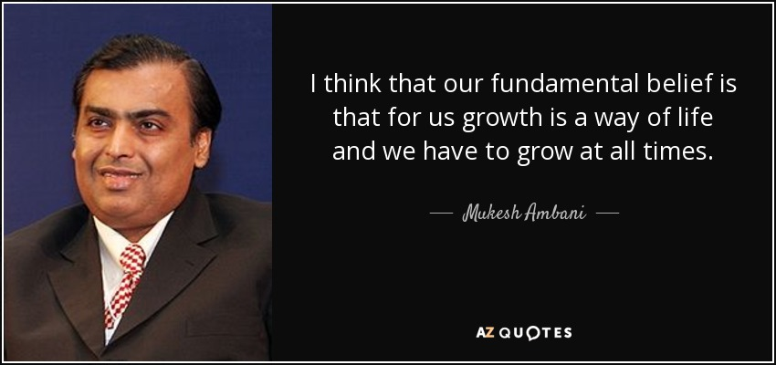 inspiration about mukesh ambani Mukesh dhirubhai ambani turns 60 today  well, let's all get inspired by the  sheer determination and hard work which made him succeed in.