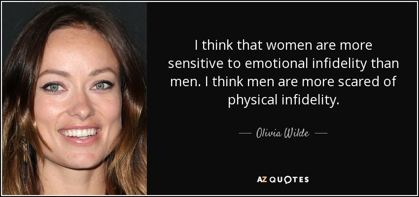 Olivia Wilde quote: I think that women are more sensitive to ...