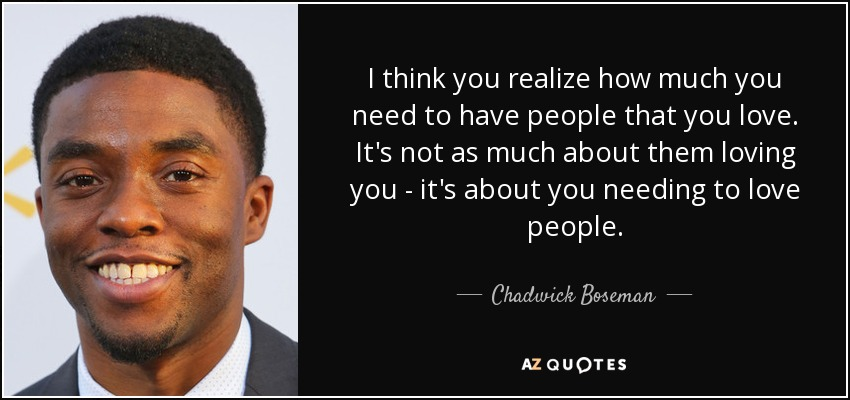 TOP 19 QUOTES BY CHADWICK BOSEMAN | A-Z Quotes