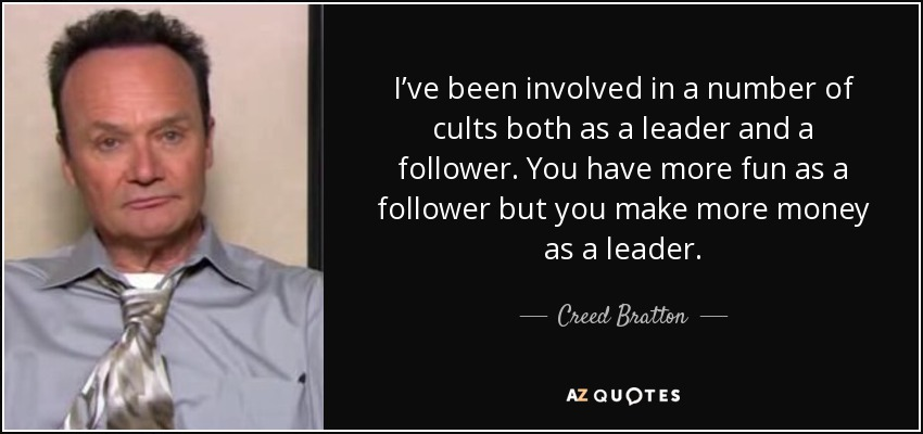 Creed Bratton quote: I've been involved in a number of ...