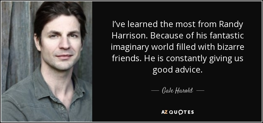 gale and randy relationship advice