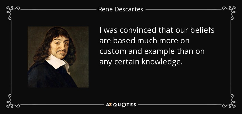 position paper rene descartes Preserving analytical dualism in psychological sociology faulty mind-body dualism that is descartes wacquant is completely justified in his holistic position.
