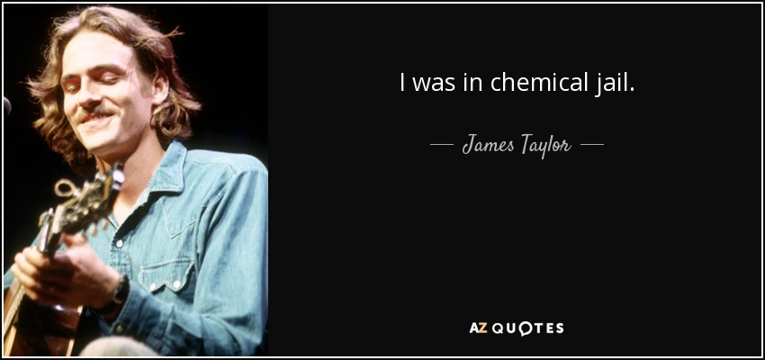 I was in chemical jail. - James Taylor