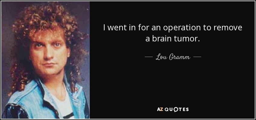 TOP 14 BRAIN TUMOR QUOTES | A-Z Quotes