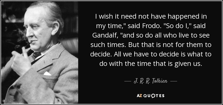 Image result for image tolkien frodo time
