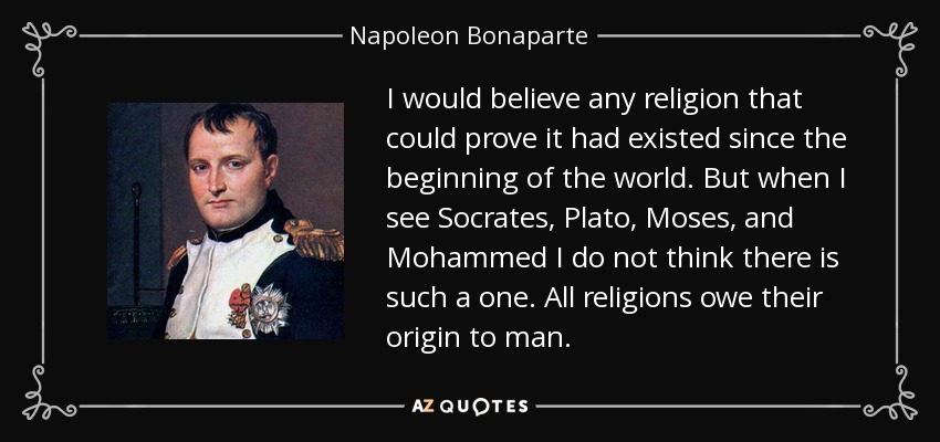 napoleon bonaparte and the catholic church essay During a frustrating argument with a roman catholic cardinal, napoleon bonaparte supposedly burst out: your eminence, are you not aware that i have the power to destroy the catholic church.