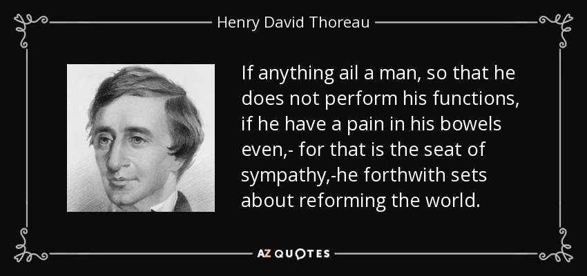 Henry David Thoreau quote: If anything ail a man, so that he does not...