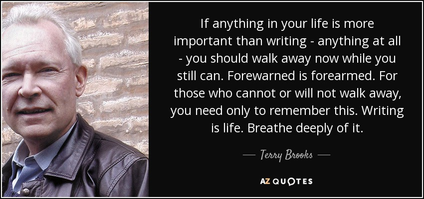 terry brooks writing advice from writers