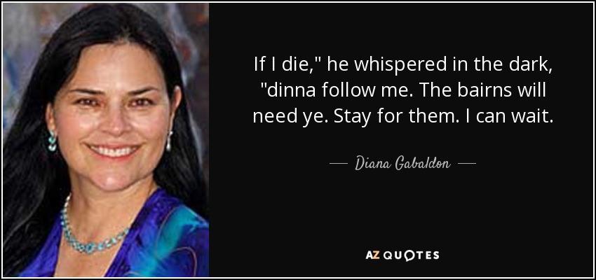 If I die,