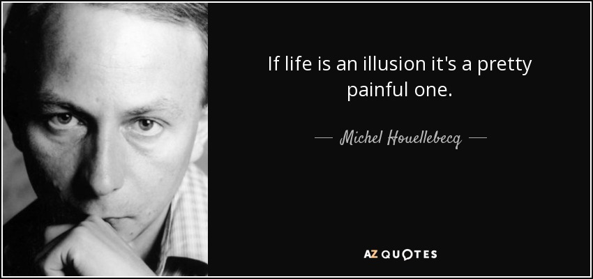 If life is an illusion it's a pretty painful one. - Michel Houellebecq