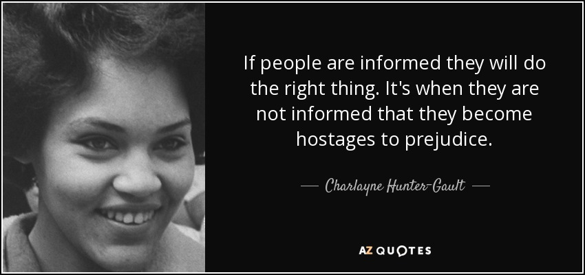 TOP 5 QUOTES BY CHARLAYNE HUNTER-GAULT