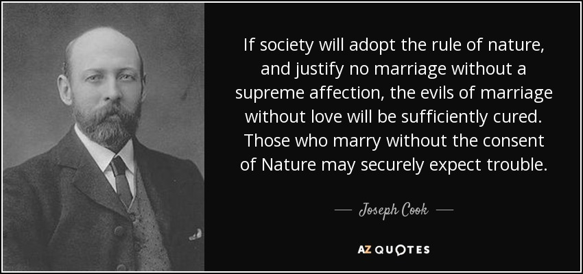 Joseph Cook quote: If society will adopt the rule of nature