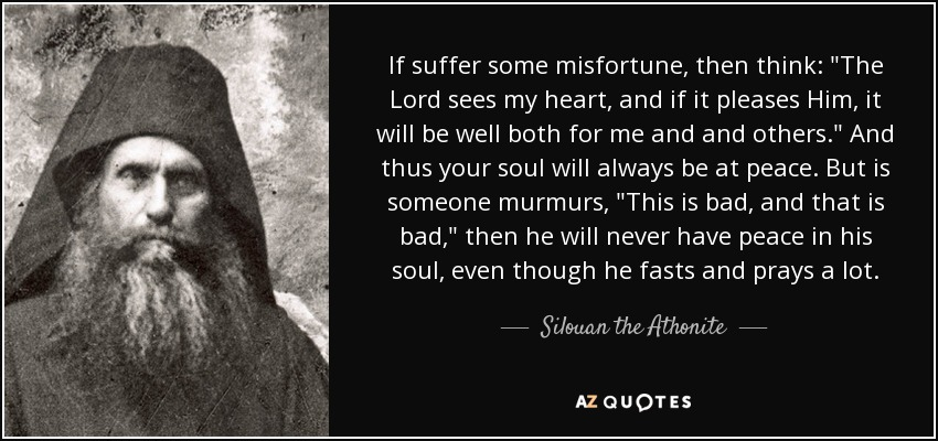 If suffer some misfortune, then think: