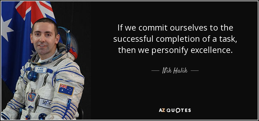 Nik Halik Quote If We Commit Ourselves To The Successful Completion