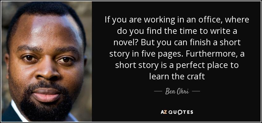 Where to write a novel