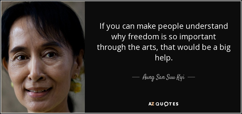 aung sang suu kyi freedom from fear essay Aung san suu kyi - wikipedia - aung san suu kyi's essay freedom from fear was first released for freedom from fear speech by aung sang suu kyi, 1990.