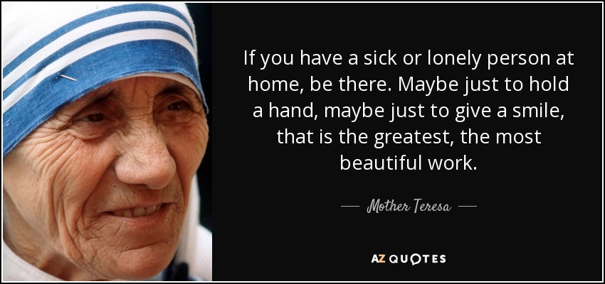 Image result for mother teresa quotes for the sick
