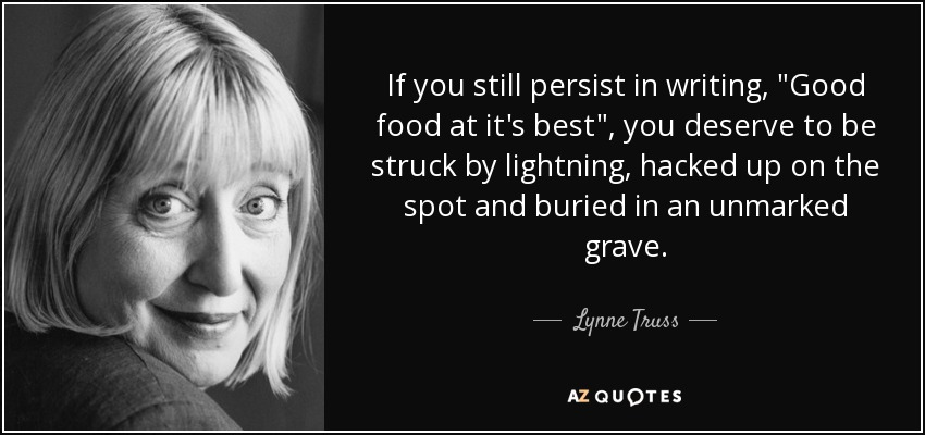 If you still persist in writing,